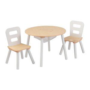 Table ronde et ses 2 chaises pour enfant