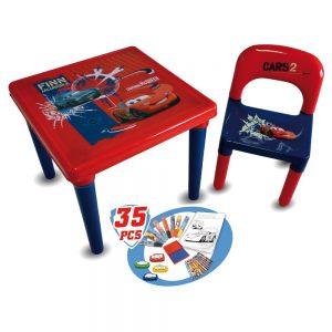 Table et chaise d'activité Cars pour enfant