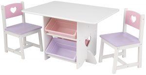 Ensemble table et chaises Coeur