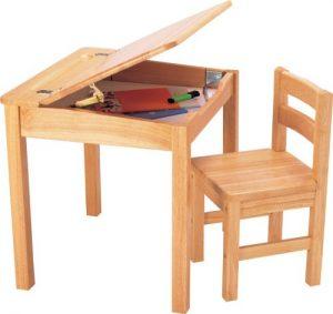 Bureau enfant en bois naturel