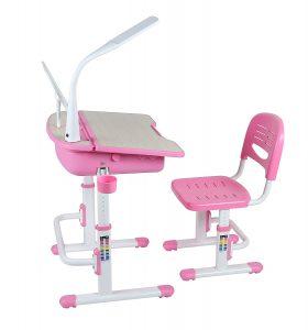 Chaise et bureau réglables en hauteur