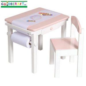 Table et chaise roses Loisirs créatifs GUIDECRAFT
