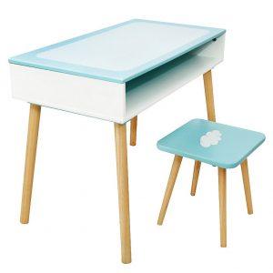 Bureau et chaise en bois