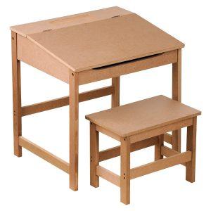 Bureau et banc en bois personnalisable
