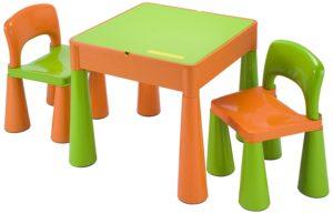 Bureau vert et orange pour enfant